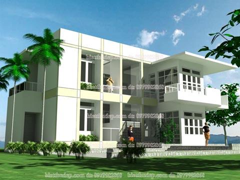 nhà 2 tầng hiện đại bác vân Hưng yên